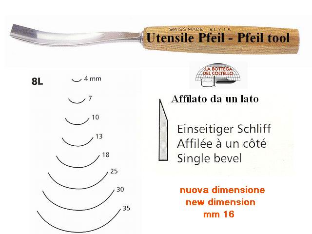Pfeil carving tool 8L/16 curved