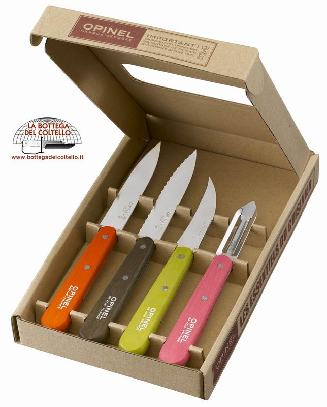 Opinel set 4 Coltelli da cucina Fifties