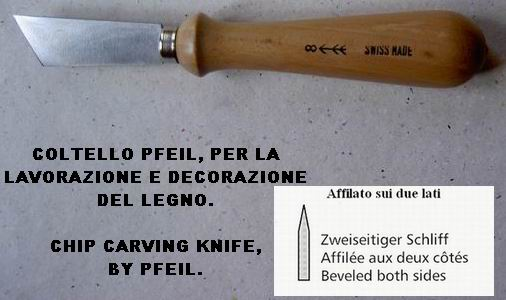 Pfeil Chip carving knife Kerb 8