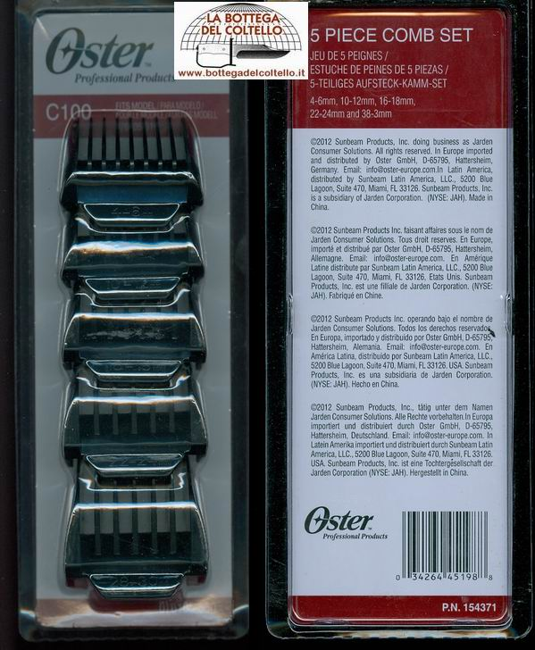 C100 5 piece comb set