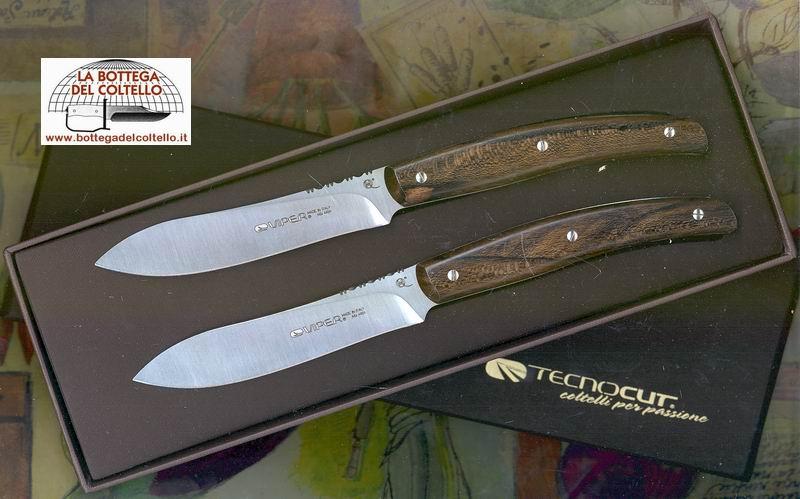 Viper 2 coltelli da bistecca o tavola la bottega del for Coltelli da tavola opinel