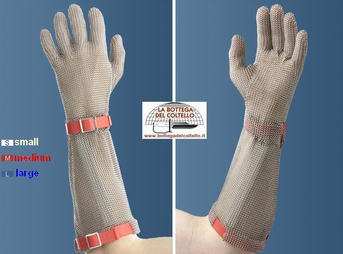 5-finger safety glove with 19 cm cuff size M