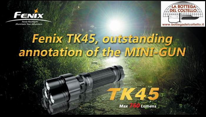 TK45  flashlight max 760 lumens