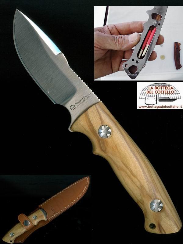 Maserin coltello da caccia lama fissa la bottega del - Coltelli da tavola lama liscia ...