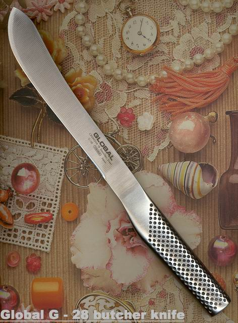Global G-28 Butcher knife, cm 18