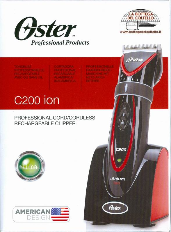 C200ion Oster Professional rechargeable clipper