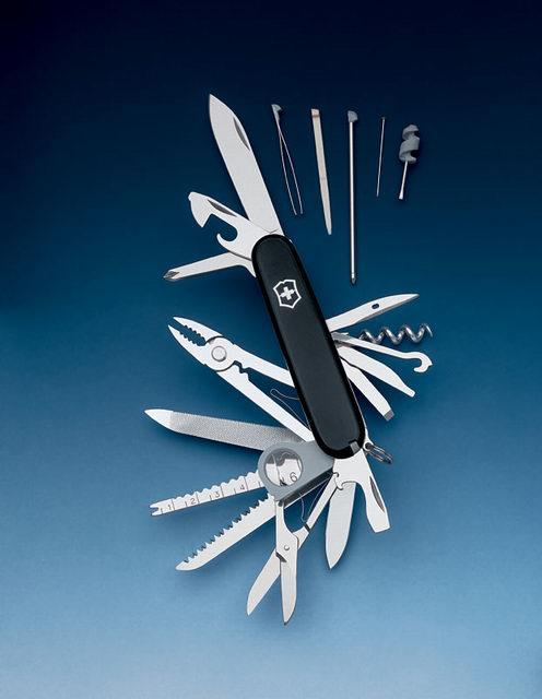Swiss Champ pocket knife walnut | La bottega del coltello