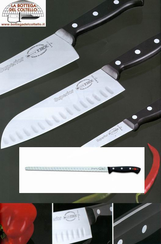 Dick 32K Salmon - ham slicer cm 32 scalloped