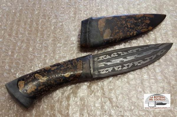 Coltello damasco feltresi arcadia la bottega del coltello - Coltelli da tavola lama liscia ...