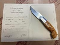Bergamasco collection knife maple