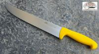 Serrated butcher knife