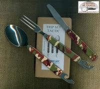 Camping tableware set with 5 implements